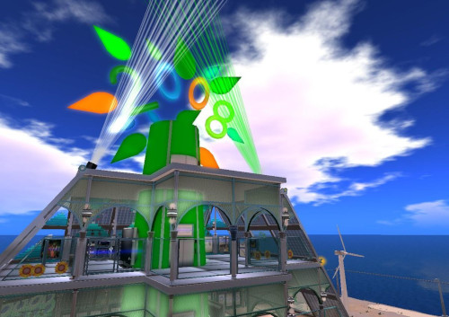2008 In Second Life, image of an island
